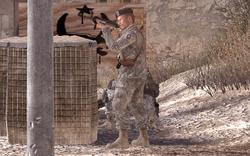 Shepherd firing M4A1 Team Player MW2