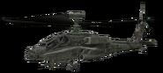AH-64 Apache cut model woodland CoD4