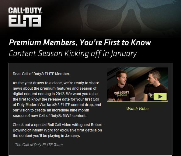 COD ELITE Content Season Notice