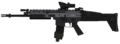 SCAR-L ACOG Scope Third Person MW3