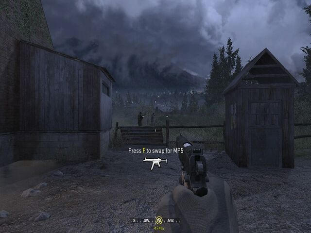 File:Picking up MP5 from dead enemies Hunted CoD4.jpg