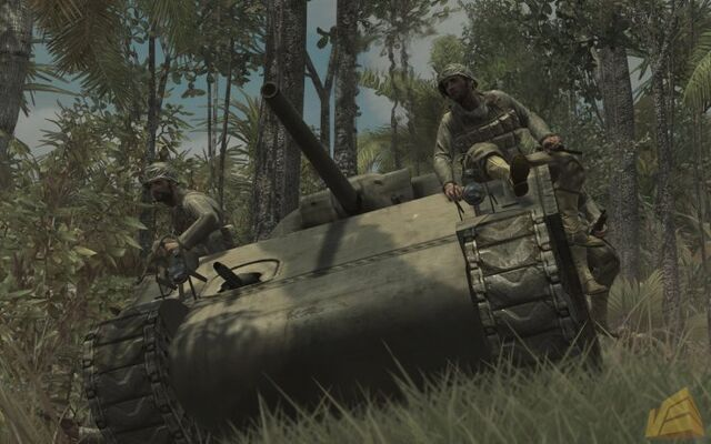 File:M4 Sherman soldiers riding WaW.jpg