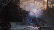 Zombie Exploding after being Shot with Magnetron AW