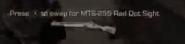 MTS-255 Red Dot Sight pickup icon CoDG