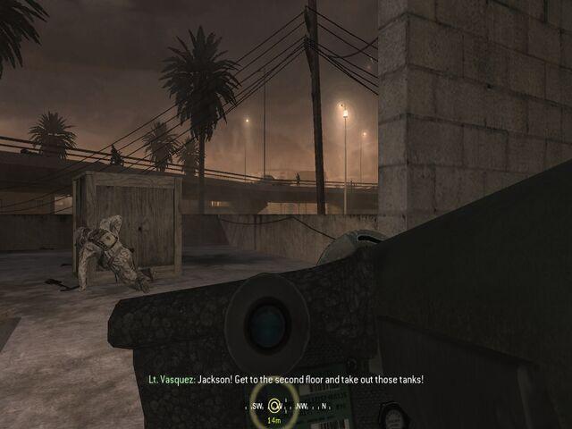 File:Wielding Javelin missile The Bog CoD4.jpg