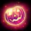 Red pumpkin gem