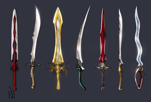 Blizz Sub 1h swords color by ninja magus
