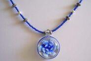Blue flower glass pendant close-up 6.10.10