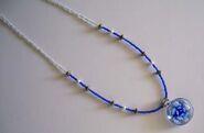 Blue flower glass pendant necklace 6.10.10