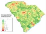 South Carolina population map