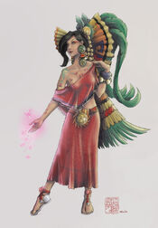 Love goddess xochiquetzal