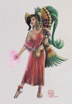 Love goddess xochiquetzal