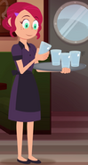 Cute Waitress Glass Examination