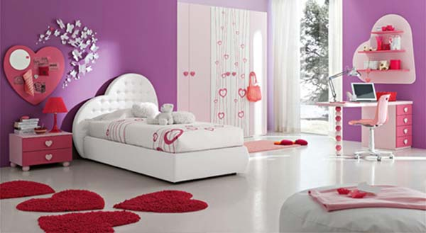 Image calm teenage girl bedroom decorating for Camerette bimbe ikea
