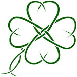 Celtic four leaf clover tatto by seanroche
