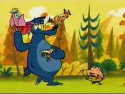 Bear juggling