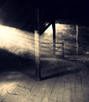 Old dusty attic