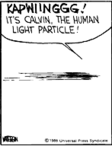 Calvin the Human Light Particle