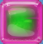 Green in Red Jelly cube