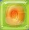 Orange in Green Jelly cube