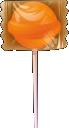 Wrapped lollipop vector