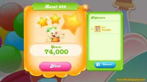 Candy Crush Jelly Saga Level 455 (3 star, No boosters)55