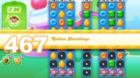 Candy Crush Jelly Saga Level 467 (3 star, No boosters)