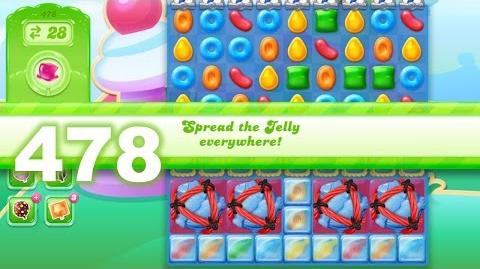 Candy Crush Jelly Saga Level 478 (3 star, No boosters)