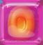 Orange in Red Jelly cube