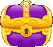Treasure chest purple closed
