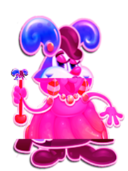 Jelly Queen Character Clock