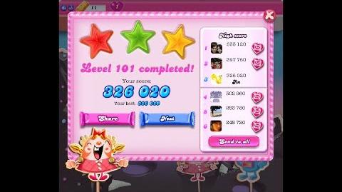 Candy Crush Saga Level 101 ★★★ NO BOOSTER