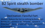 Fanciful Fort B2 Spirit stealth bomber meme