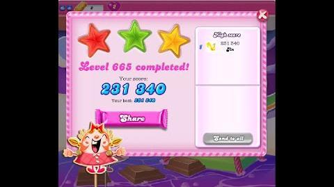 Candy Crush Saga Level 665 ★★★ NO BOOSTER