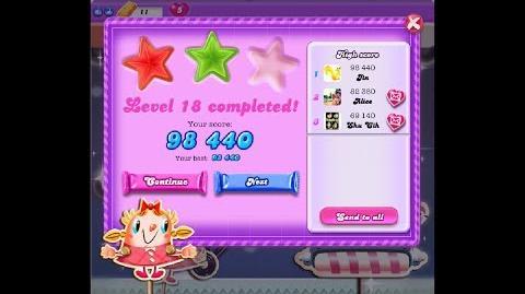 Candy Crush Saga Dreamworld Level 18 ★★ 2 Stars