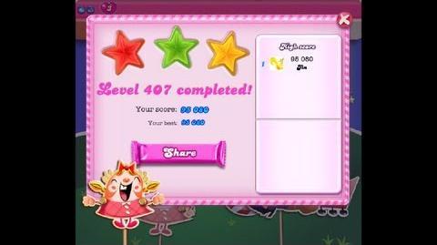 Candy Crush Saga Level 407 ★★★
