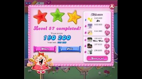 Candy Crush Saga Level 57 ★★★ NO BOOSTER