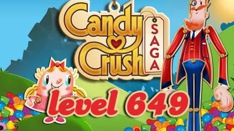Candy Crush Saga Level 649 - ★★★