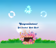Soda Surf completed congratulations screen