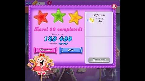 Candy Crush Saga Dreamworld Level 39 ★★★ 3 Stars