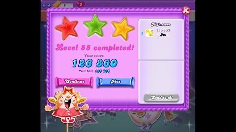 Candy Crush Saga Dreamworld Level 55 ★★★ 3 Stars