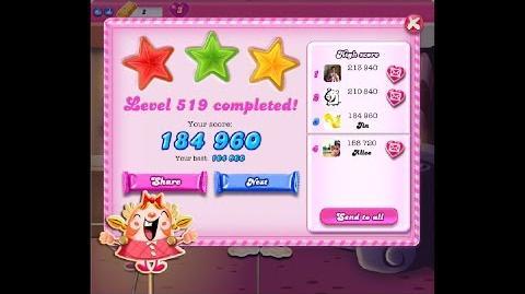 Candy Crush Saga Level 519 ★★★ NO BOOSTER