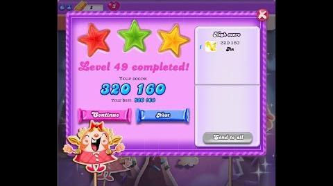 Candy Crush Saga Dreamworld Level 49 ★★★ 3 Stars