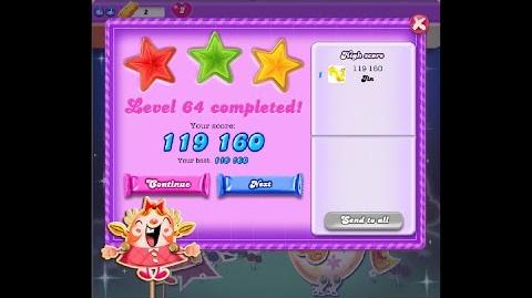 Candy Crush Saga Dreamworld Level 64 ★★★ 3 Stars