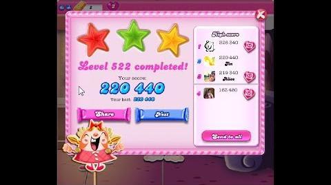 Candy Crush Saga Level 522 ★★★ NO BOOSTER