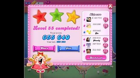 Candy Crush Saga Level 55 ★★★ NO BOOSTER
