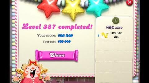 Candy Crush Saga Level 387 ★★★