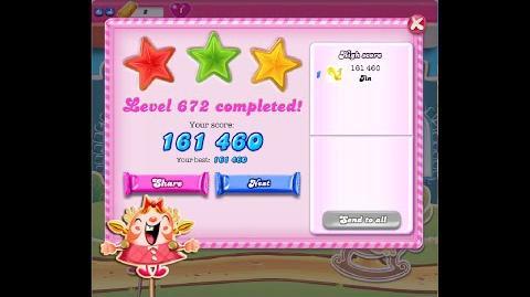 Candy Crush Saga Level 672 ★★★ NO BOOSTER