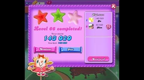 Candy Crush Saga Dreamworld Level 66 ★★