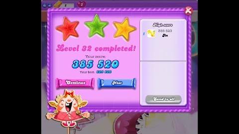 Candy Crush Saga Dreamworld Level 32 ★★★ 3 Stars